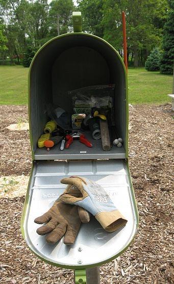 Garden tools mailbox