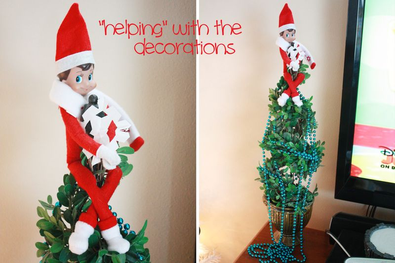 Elf decorating
